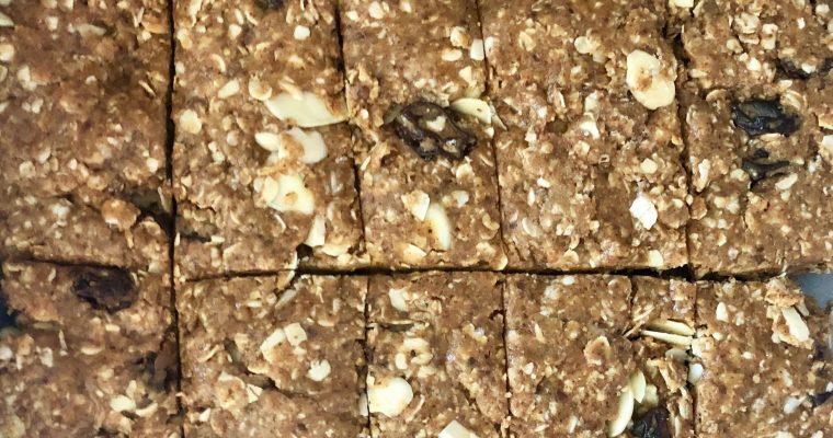 Honey and Almond Butter No-Bake Granola Bars