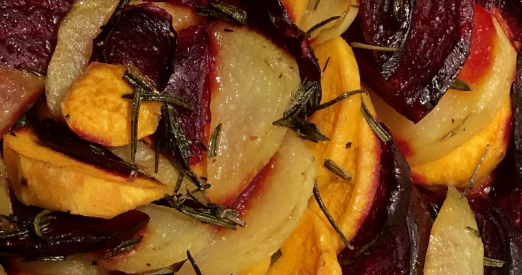 Rosemary Beet and Potato Bake