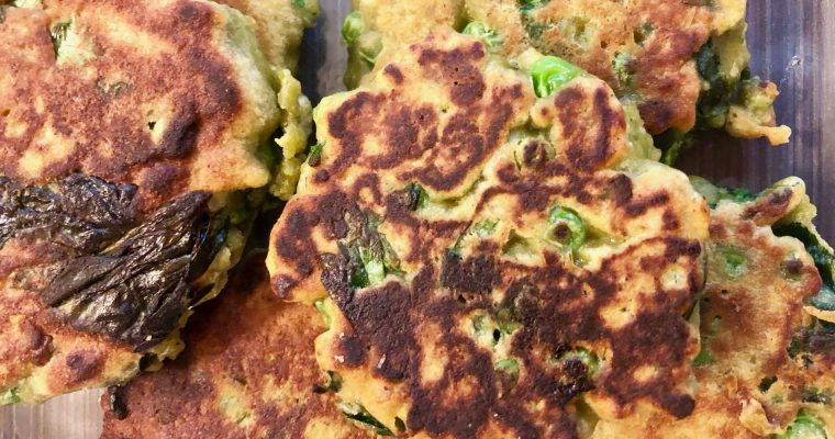 Spinach and Pea Pancakes