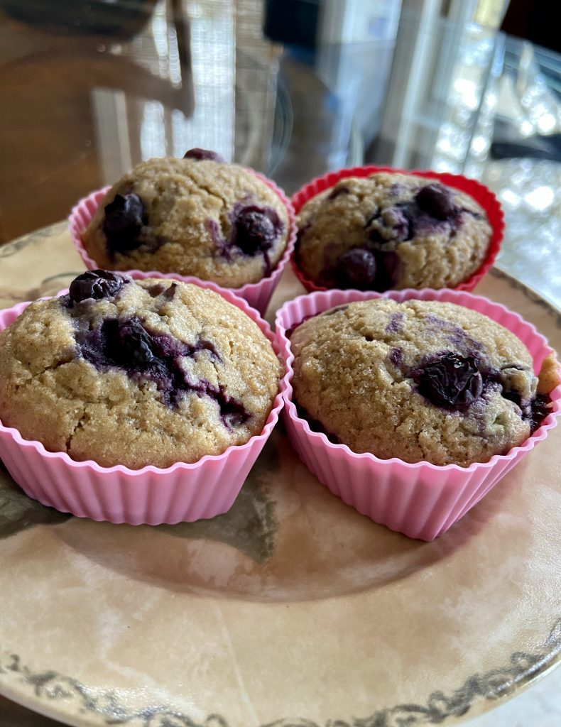 whole grain blueberry muffins