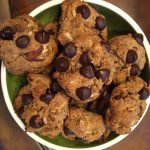 almond and chocolate chip cookies