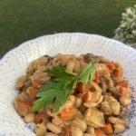 White bean stew with fresh parsley